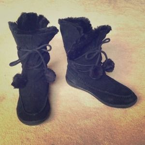 Steve Madden Shoes - STEVE MADDEN IGLOU SUEDE BOOTS WITH WRAP AROUD TIE