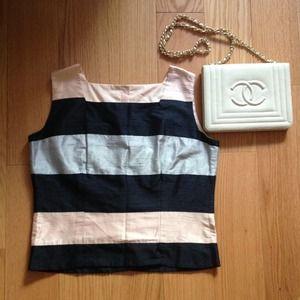 Tops - 🍃💕 Happy Stripes...💖 Raw Silk nautical top