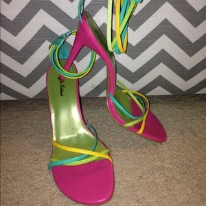 Shoes - Multi colored Heels!