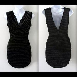 Black Sequin Glitter Dress