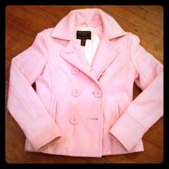 Pink pea coats for women