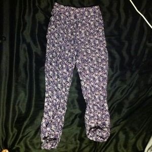 Purple floral dress pants