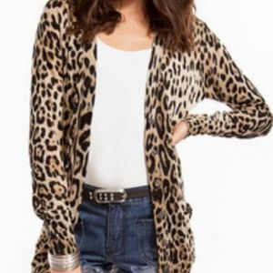 Sweaters - Nasty Gal Leopard Cardigan *NEW*