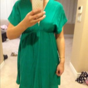 Kelly green dress purchased at Nordstrom