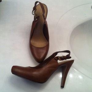 Nine west brown cute shoes size 7.5