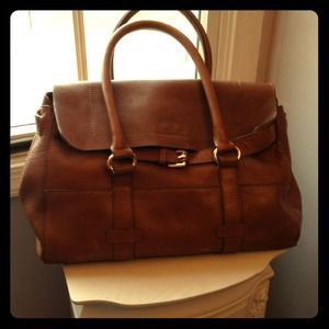 Cognac Leather Carry-all Zara Handbag
