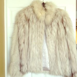 Jackets & Blazers - Fox fur coat, lined, great cond, gray/white