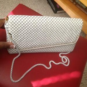 Handbags - Vintage White Metal Mesh Clutch Handbag