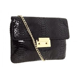 MK Sloan Clutch in black python