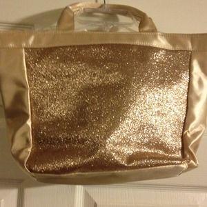 Handbags - SOLD ! Gold glitter Handbag.