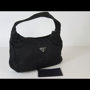 prada nylon hobo handbag