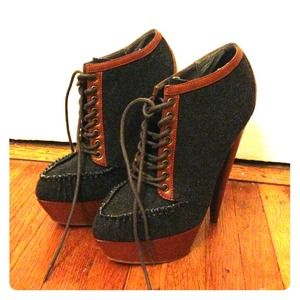 Asos lace up booties