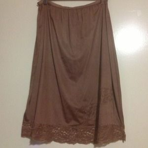 Vintage slip skirt- mauve/brown color