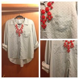 Tops - Powder Polka Dot Blouse