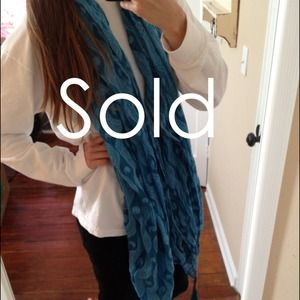 Accessories - Blue Ocean Patterned Scarf