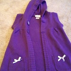 Sweaters - Purple Cardigan size 6 youth girls