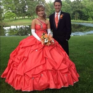 Dresses | Peach Colored Prom Dress | Poshmark