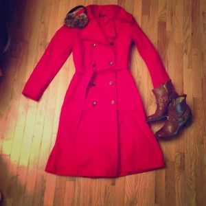 Topshop red trench coat