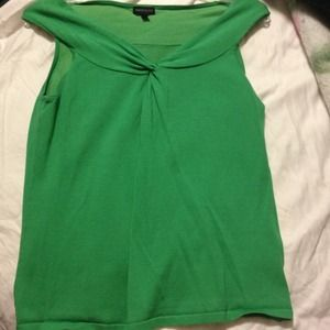 Tops - SOLD Green knit top.