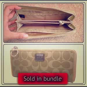 Coach Clutches & Wallets - Authentic Coach Poppy signature slim zip wallet