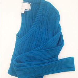 Cobalt Blue Cable Knit Sweater