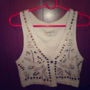 Abercrombie and Fitch denim vest