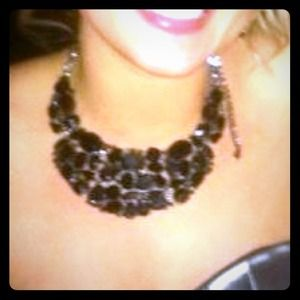 Black & White Bib Necklace