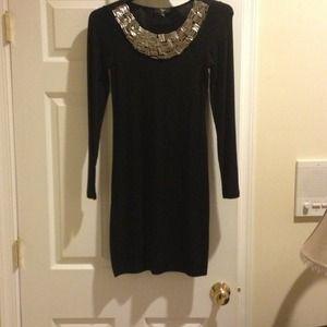 Aqua Long sleeve jersey dress