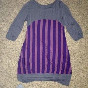 Dresses & Skirts - Gray & purple dress