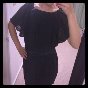 Black top with butterfly sleeves