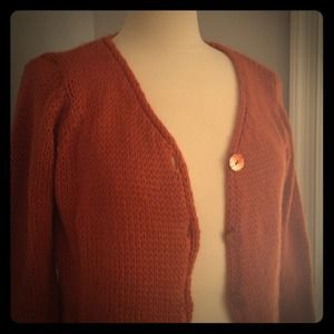 Sweaters - SOLD. Rust colored cardigan.