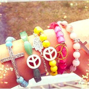 Jewelry - Turquoise sideway cross bracelet