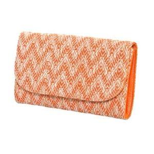 Handbags - Orange Zig Zag Clutch