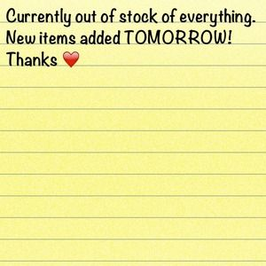 New items added tomorrow!