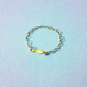 Jewelry - dainty yellow gold filled bar chain ring 2