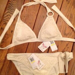 Ella Moss Other - 🍃💕NWT Ella Moss Cream Lace Swimsuit