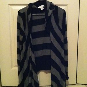 Gray and black striped cover up
