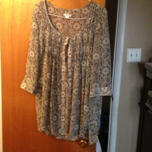 Womens shirt sheer medium