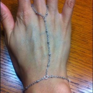 Silver Tone Boho Hand Chain