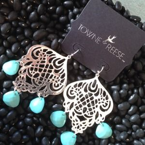 SOLDGinger Earrings in Silver with Turquoise