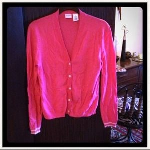 Pink rayon light cardigan sweater cute!!