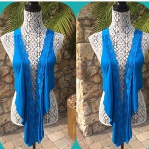Tops - ✨💫HP✨💫Lace front vest