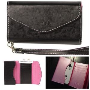 Clutches & Wallets - iPhone Wallet Case Black (5/4S/4) See Description