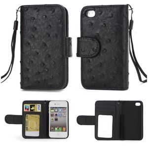 Clutches & Wallets - iPhone 4S/4 Wallet Case - Black