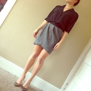 Topshop High Waist Grey Skirt