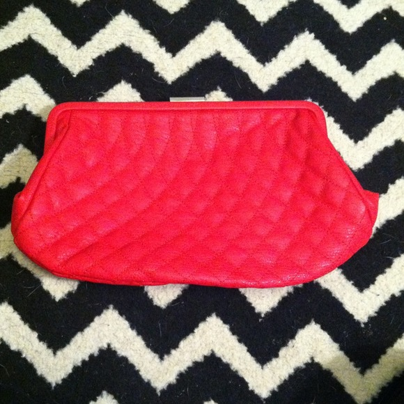 JustFab Clutches & Wallets - **MUST GO!!** red quilted clutch!