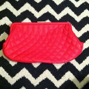 **MUST GO!!** red quilted clutch!