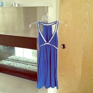 *Reduced* NWOT Blue Beach Dress / top with Sequins