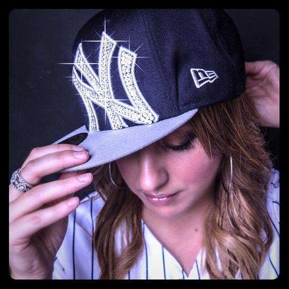 Custom Swarovski Yankees Hat feccb544842