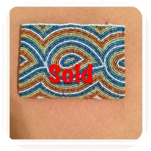 Clutches & Wallets - SOLD @pantojajaja Beaded change purse